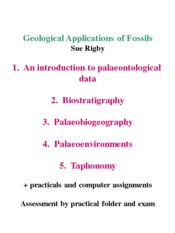 ERTH 2025 Geological applications of fossils