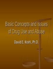 CRM 403 - General Issues in Drug Abuse.ppt