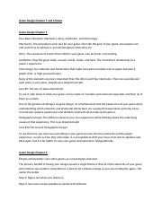 Game Design Chapter 5 and 6 Notes.docx