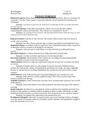 Business law- Contracts assignment .docx