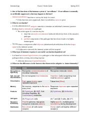 Immunology Exam 1 Guide.docx