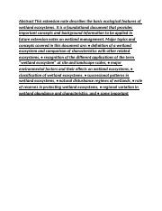 The Ecology of Wetland Ecosystems_0001.docx