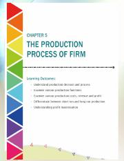 Chapter 5 The Production process of firm 1
