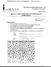 BA 10 - Organization and Management - Spring 2002 - Banks