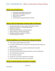 Unit 1 - Topic 7 Fundamentals of Report Writing.docx