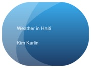 Weather in Haiti
