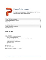 PowerPoint tutorial - PowerPoint basics