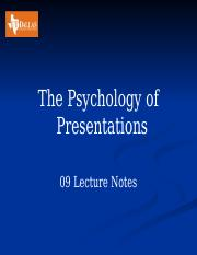 09 Psy of Presentations  Lecture Notes.pptx