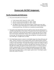 Finance Lab- FACTSET Assignment