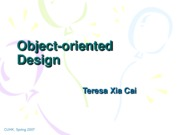 Lecuture 10 Object-Oriented Design and UML