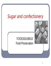 Sugar and confectionery