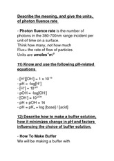 Biology 2290G Class Notes Photon fluence rate