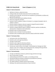 Study Guide  CHEM-1411 Exam II