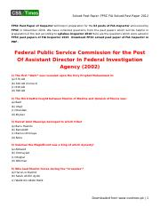 FIA Assistant Director 2012 Solved Past Paper in PDF pdf