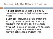 Business 01- The Nature of Business