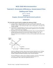 Tutorial Week 5 Government Policies and Market Efficiency.pdf