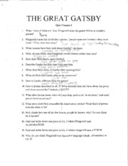 English Great Gatsby Ch. 3 Quiz