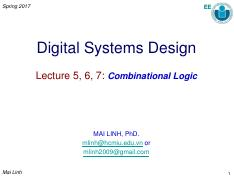 DSD_Lecture 5-6-7_Combinational Logic_MLinh_Modified