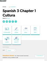 Spanish 3 Chapter 1 Cultura Flashcards | Quizlet