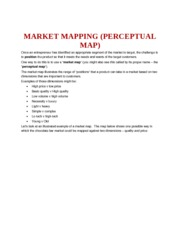 MARKET MAPPING (PERCEPTUAL MAP)