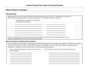 Critical Thinking Flow Sheet for Nursing Students