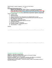 2 Pages Apush C1 Summerignment Foner Top Ten Timeline Doc
