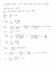 Solutions for exam one