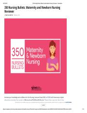 350 Nursing Bullets_ Maternity and Newborn Nursing Reviewer - Nurseslabs.pdf