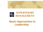 Basic Approaches to Leadership2015