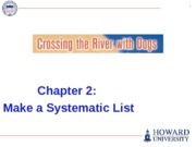 (03) PRES - Chapter 2 - Systematic List - CrossRiv - Business Problem Solving - F15