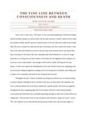 The Fine Line between Consciousness and Death THE DEAD