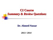 7_CI_Course Summary & Review Qs