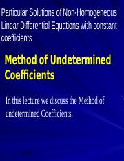06 Method of Undetermined Coefficients.ppt
