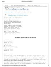 4 Pages Coverlettersandresume Goldman Sachs Cover Letter Sample 1pdf