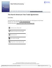 NPE_The North American Free Trade Agreement.pdf