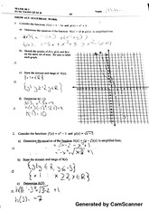 quadractic functions quiz 2