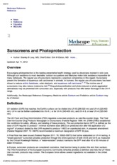 Print - Sunscreens and Photoprotection