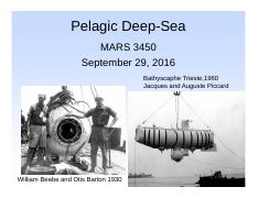 Lecture 14 29 Sept Deep-Sea 1