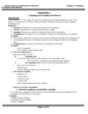 Chapter-7-Sampling & sampling Distributions.doc