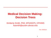 Medical decision making 3 - lecture - Decision trees