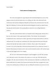 Undocumented Immigrations.docx