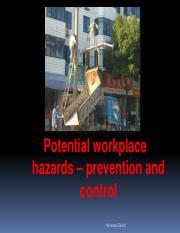 Topic 2_Potential Workplace Hazard
