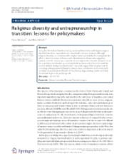 Religious Diversity and Entrepreneurship in Transition- Lessons for policymakers..pdf