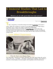 6 Immoral Studies That Led to Breakthroughs.docx