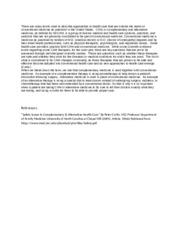 alternative medicine essay 9 Most treatments that are called alternative medicine would be more accurately described as alternatives to medicine since  9 alternative therapies appeal to.
