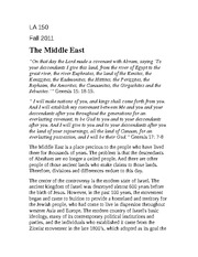 Middle East Rubric for Faith, Religion, and Society