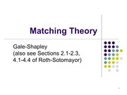 Lecture 1 Introduction to Matching