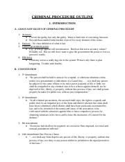 CRIMINAL PROCEDURE OUTLINE