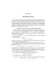 Chapter 1 Martingale Theory
