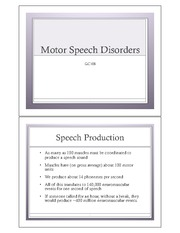 4:12 Motor Speech Disorders